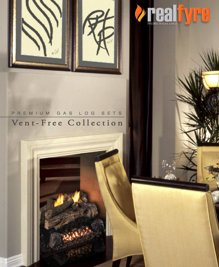 Real Fyre Vent Free Vent-Free Gas Logs Brochure link