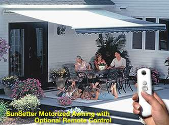 SunSetter Motorized Awnings With Optional Remote Control